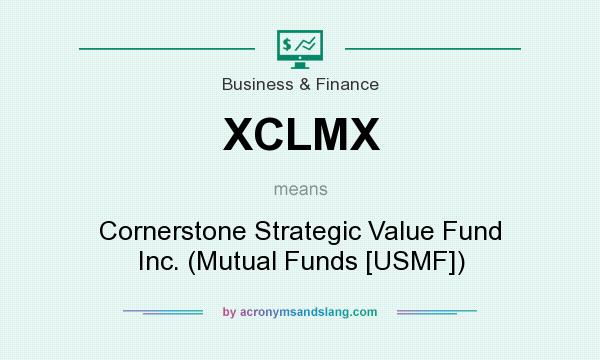 What does XCLMX mean? It stands for Cornerstone Strategic Value Fund Inc. (Mutual Funds [USMF])