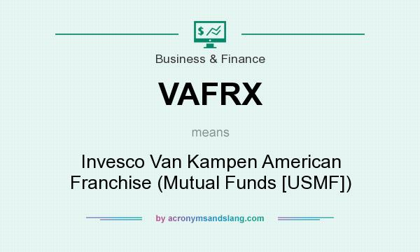 What does VAFRX mean? It stands for Invesco Van Kampen American Franchise (Mutual Funds [USMF])