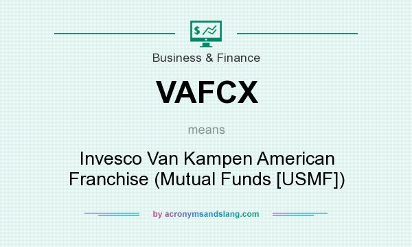 What does VAFCX mean? It stands for Invesco Van Kampen American Franchise (Mutual Funds [USMF])
