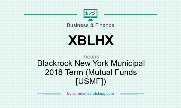 What does XBLHX mean? It stands for Blackrock New York Municipal 2018 Term (Mutual Funds [USMF])