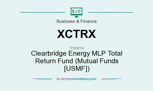 What does XCTRX mean? It stands for Clearbridge Energy MLP Total Return Fund (Mutual Funds [USMF])