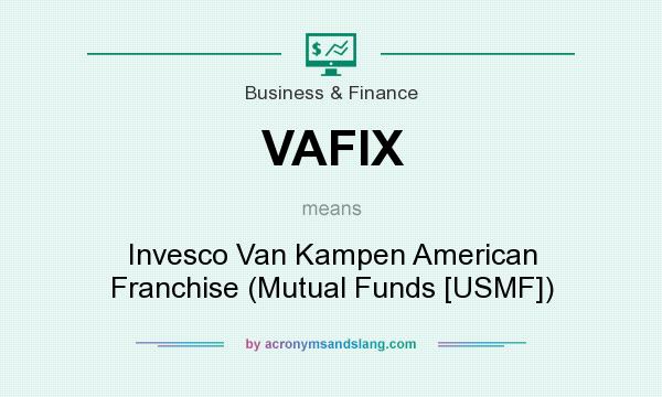 What does VAFIX mean? It stands for Invesco Van Kampen American Franchise (Mutual Funds [USMF])