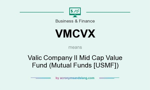 What does VMCVX mean? It stands for Valic Company II Mid Cap Value Fund (Mutual Funds [USMF])