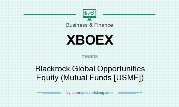 What does XBOEX mean? It stands for Blackrock Global Opportunities Equity (Mutual Funds [USMF])