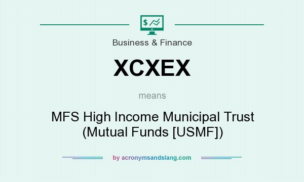 What does XCXEX mean? It stands for MFS High Income Municipal Trust (Mutual Funds [USMF])