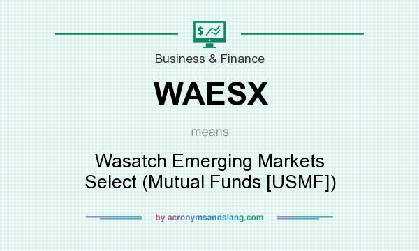 What does WAESX mean? It stands for Wasatch Emerging Markets Select (Mutual Funds [USMF])