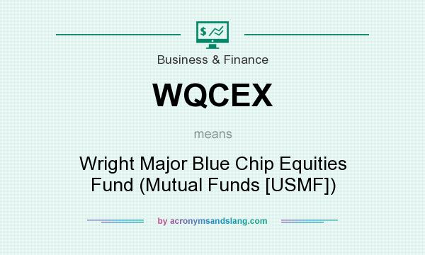 What does WQCEX mean? It stands for Wright Major Blue Chip Equities Fund (Mutual Funds [USMF])