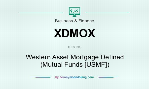 What does XDMOX mean? It stands for Western Asset Mortgage Defined (Mutual Funds [USMF])