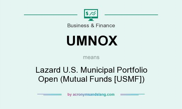 What does UMNOX mean? It stands for Lazard U.S. Municipal Portfolio Open (Mutual Funds [USMF])