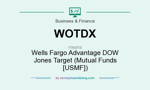 What does WOTDX mean? It stands for Wells Fargo Advantage DOW Jones Target (Mutual Funds [USMF])
