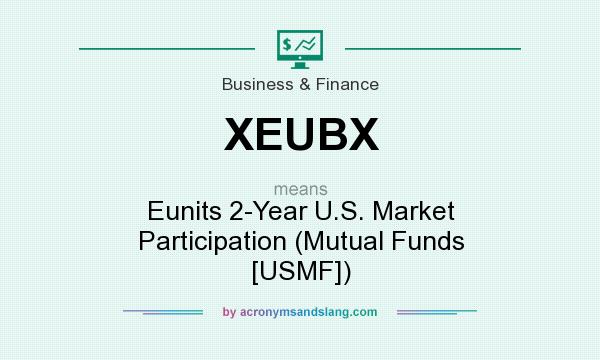 What does XEUBX mean? It stands for Eunits 2-Year U.S. Market Participation (Mutual Funds [USMF])