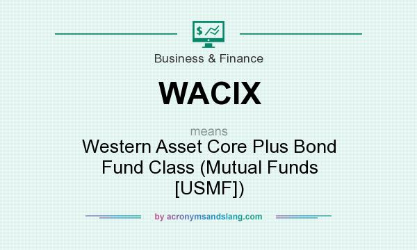 What does WACIX mean? It stands for Western Asset Core Plus Bond Fund Class (Mutual Funds [USMF])