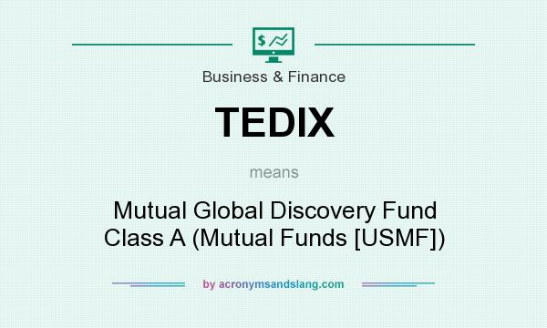 What does TEDIX mean? It stands for Mutual Global Discovery Fund Class A (Mutual Funds [USMF])