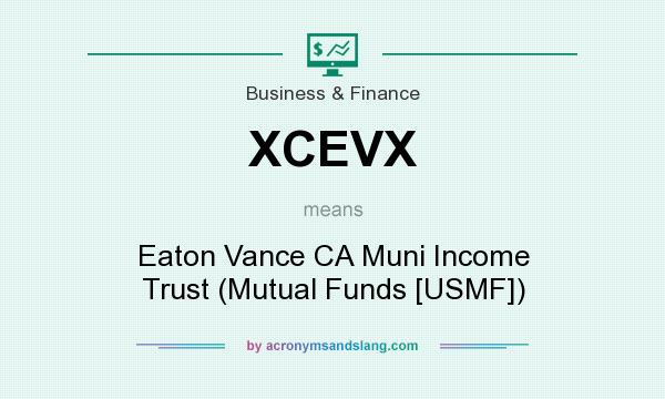 What does XCEVX mean? It stands for Eaton Vance CA Muni Income Trust (Mutual Funds [USMF])