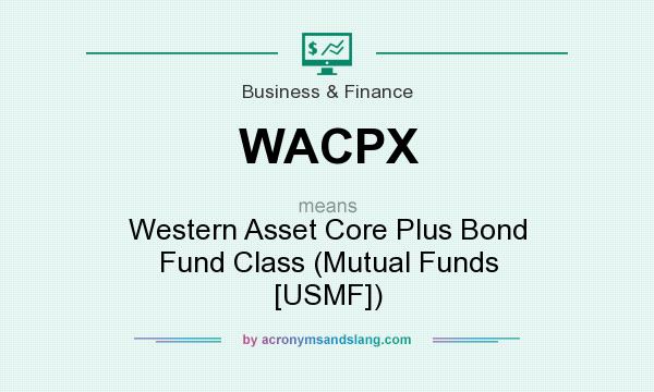 What does WACPX mean? It stands for Western Asset Core Plus Bond Fund Class (Mutual Funds [USMF])