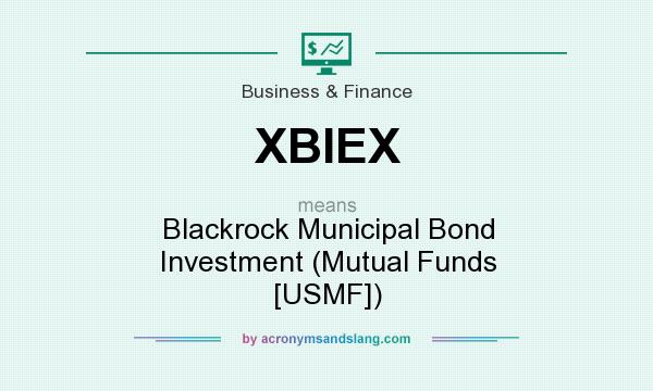 What does XBIEX mean? It stands for Blackrock Municipal Bond Investment (Mutual Funds [USMF])
