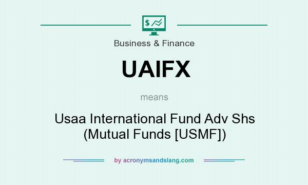 What does UAIFX mean? It stands for Usaa International Fund Adv Shs (Mutual Funds [USMF])