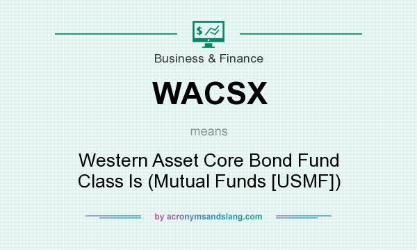 What does WACSX mean? It stands for Western Asset Core Bond Fund Class Is (Mutual Funds [USMF])