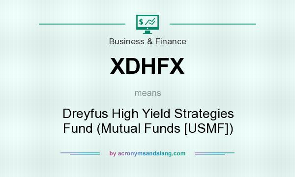 What does XDHFX mean? It stands for Dreyfus High Yield Strategies Fund (Mutual Funds [USMF])