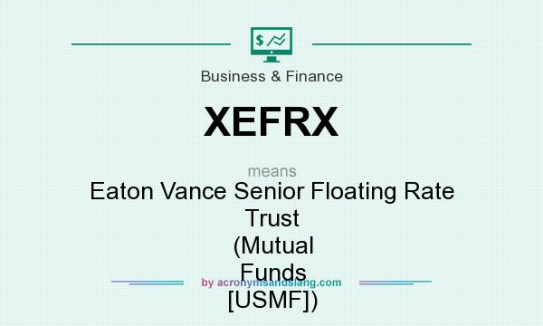 What does XEFRX mean? It stands for Eaton Vance Senior Floating Rate Trust (Mutual Funds [USMF])