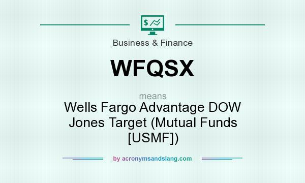 What does WFQSX mean? It stands for Wells Fargo Advantage DOW Jones Target (Mutual Funds [USMF])