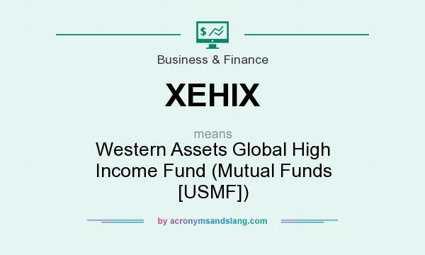 What does XEHIX mean? It stands for Western Assets Global High Income Fund (Mutual Funds [USMF])