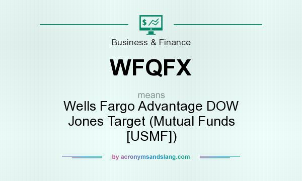 What does WFQFX mean? It stands for Wells Fargo Advantage DOW Jones Target (Mutual Funds [USMF])