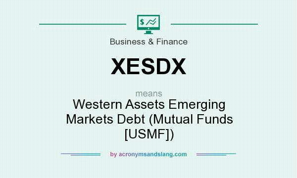 What does XESDX mean? It stands for Western Assets Emerging Markets Debt (Mutual Funds [USMF])