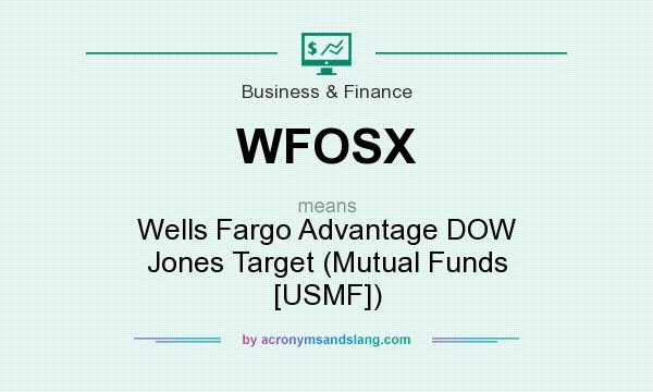 What does WFOSX mean? It stands for Wells Fargo Advantage DOW Jones Target (Mutual Funds [USMF])