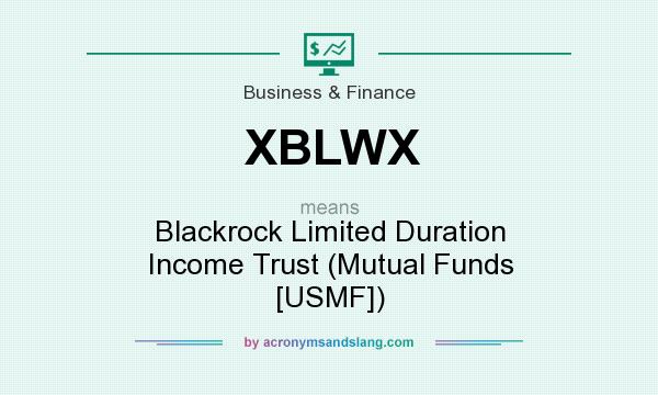 What does XBLWX mean? It stands for Blackrock Limited Duration Income Trust (Mutual Funds [USMF])