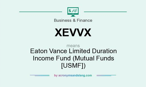 What does XEVVX mean? It stands for Eaton Vance Limited Duration Income Fund (Mutual Funds [USMF])