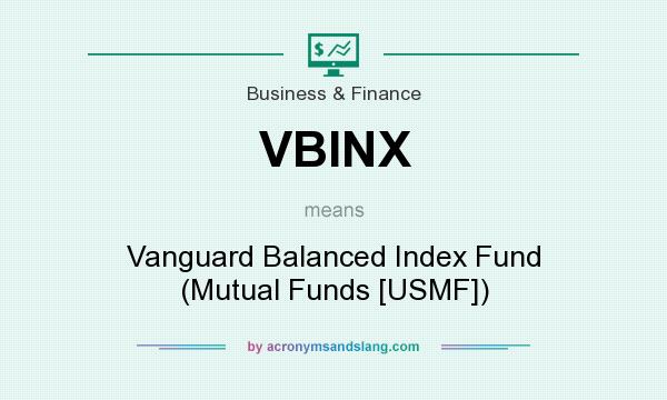 What does VBINX mean? It stands for Vanguard Balanced Index Fund (Mutual Funds [USMF])