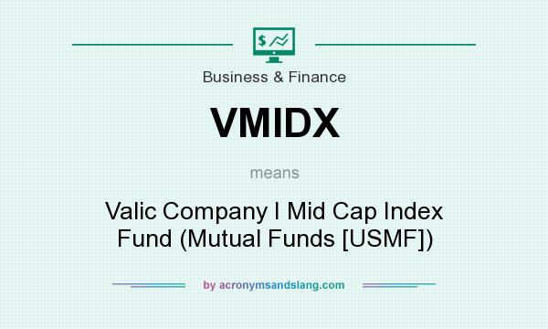 What does VMIDX mean? It stands for Valic Company I Mid Cap Index Fund (Mutual Funds [USMF])
