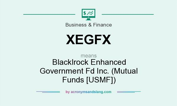 What does XEGFX mean? It stands for Blacklrock Enhanced Government Fd Inc. (Mutual Funds [USMF])