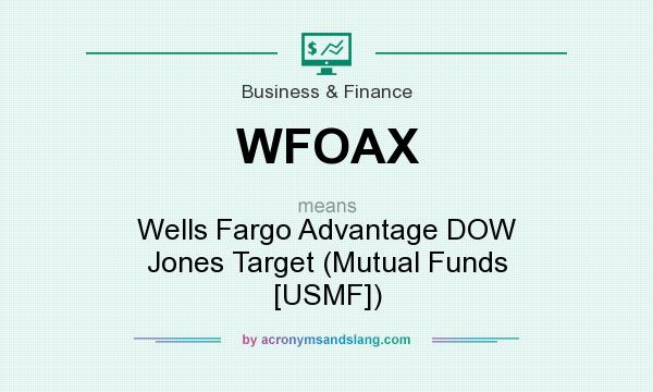 What does WFOAX mean? It stands for Wells Fargo Advantage DOW Jones Target (Mutual Funds [USMF])