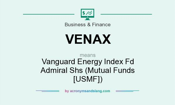 What does VENAX mean? It stands for Vanguard Energy Index Fd Admiral Shs (Mutual Funds [USMF])