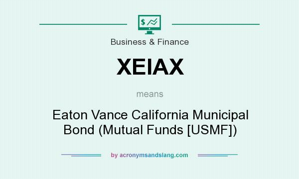 What does XEIAX mean? It stands for Eaton Vance California Municipal Bond (Mutual Funds [USMF])