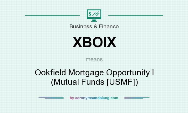 What does XBOIX mean? It stands for Ookfield Mortgage Opportunity I (Mutual Funds [USMF])