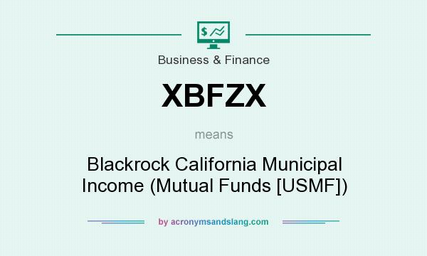 What does XBFZX mean? It stands for Blackrock California Municipal Income (Mutual Funds [USMF])