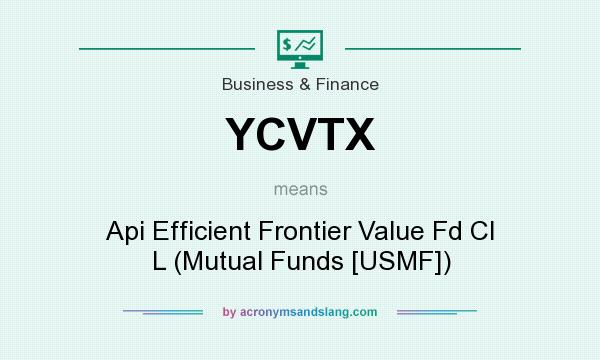 What does YCVTX mean? It stands for Api Efficient Frontier Value Fd Cl L (Mutual Funds [USMF])