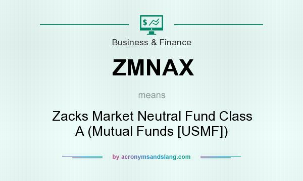 What does ZMNAX mean? It stands for Zacks Market Neutral Fund Class A (Mutual Funds [USMF])