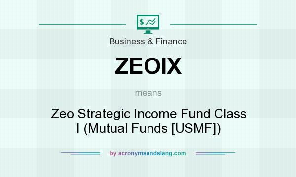 What does ZEOIX mean? It stands for Zeo Strategic Income Fund Class I (Mutual Funds [USMF])