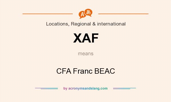 What does XAF mean? It stands for CFA Franc BEAC