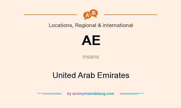 What does AE mean? It stands for United Arab Emirates