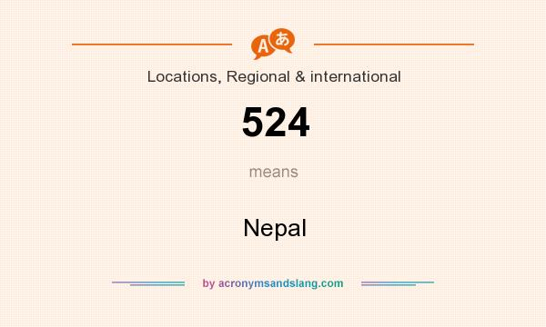 What does 524 mean? It stands for Nepal