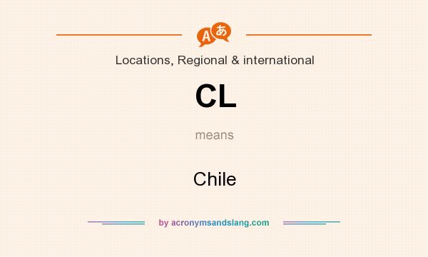 What does CL mean? It stands for Chile