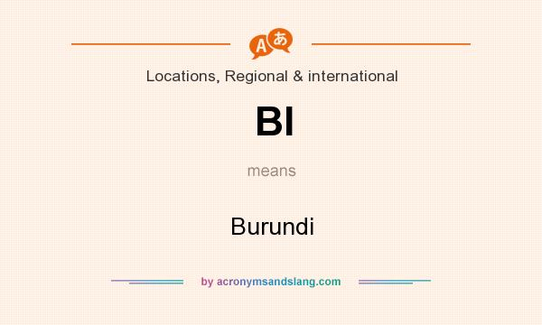 What does BI mean? It stands for Burundi