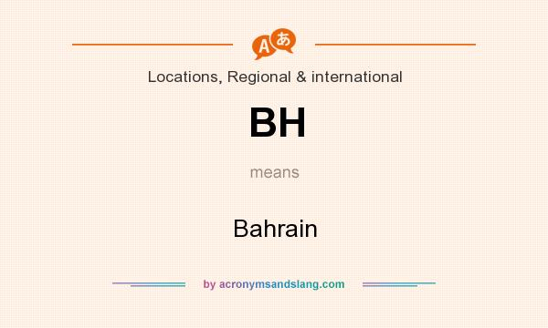 What does BH mean? It stands for Bahrain