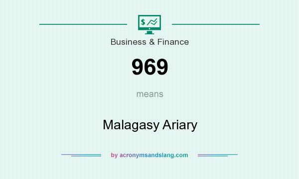 What does 969 mean? It stands for Malagasy Ariary