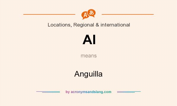 What does AI mean? It stands for Anguilla